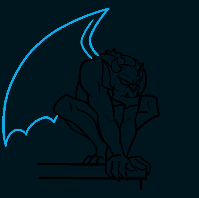 How to Draw a Gargoyle Step 07