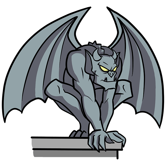 How to Draw a Gargoyle Step 10