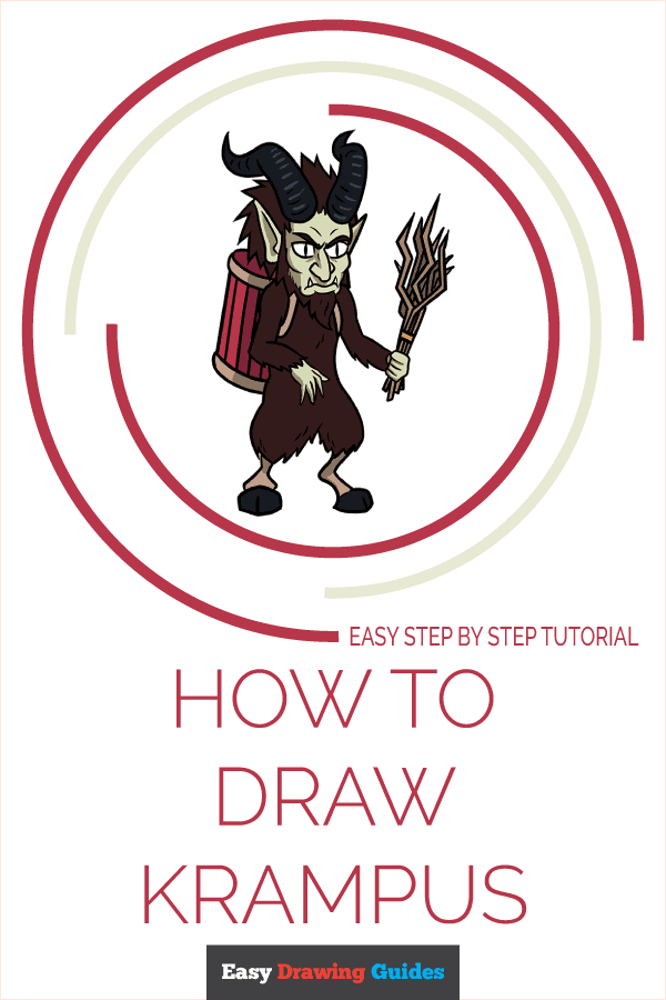 How to Draw Krampus   Share to Pinterest
