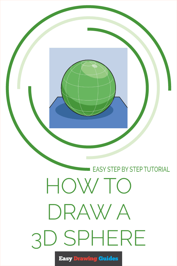 How to Draw a 3D Sphere Pinterest Image
