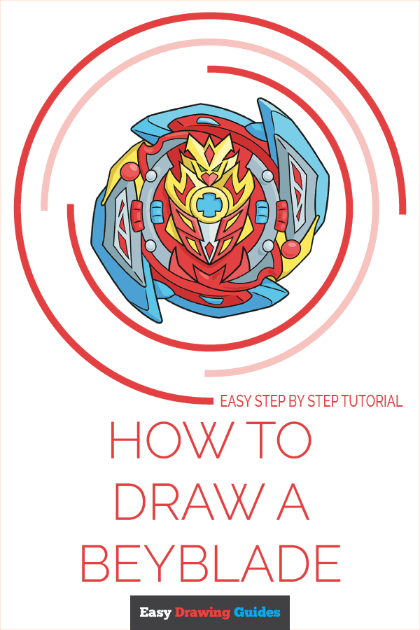 How to Draw a Beyblade Pinterest Image