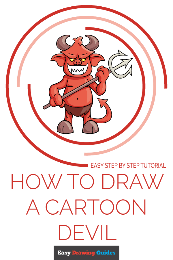 How to Draw Cartoon Devil | Share to Pinterest