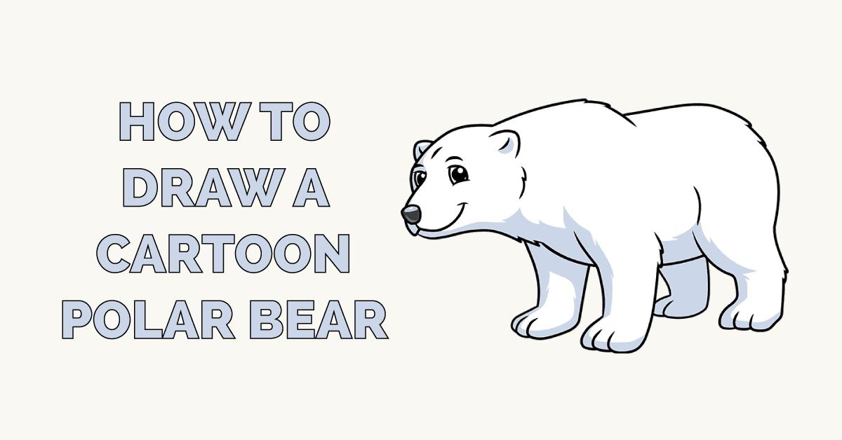 How to Draw a Cartoon Polar Bear Featured Image