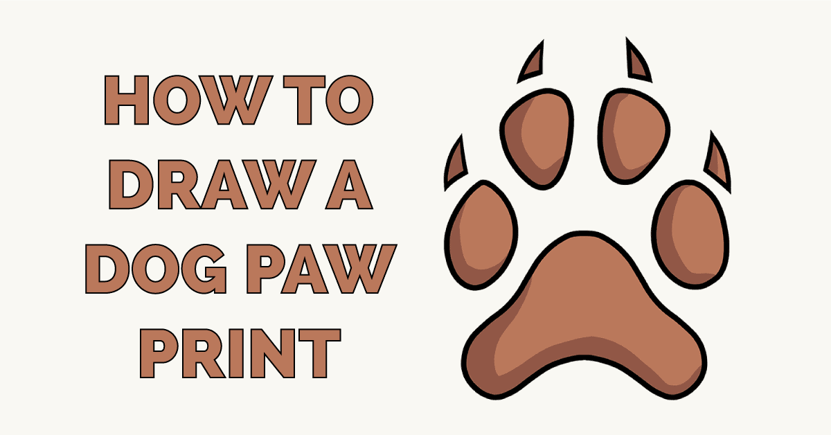 How to Draw a Dog Paw Print Featured Image
