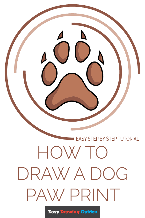 How to Draw Dog Paw Print | Share to Pinterest