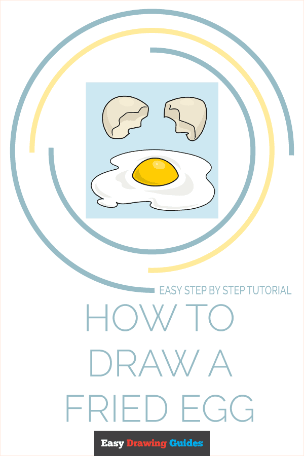 How to Draw a Fried Egg Pinterest Image