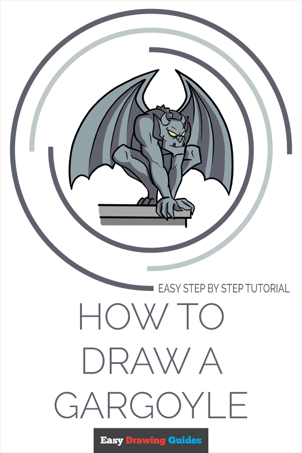 How to Draw a Gargoyle Pinterest Image