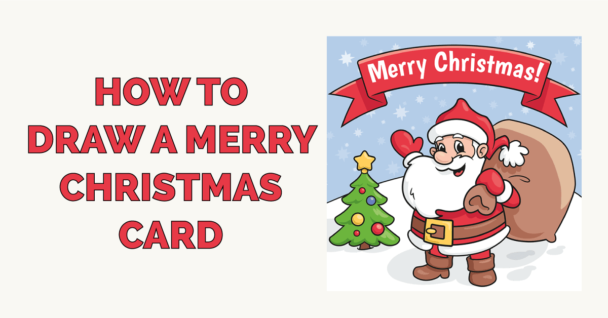 How to Draw a Merry Christmas Card Featured Image
