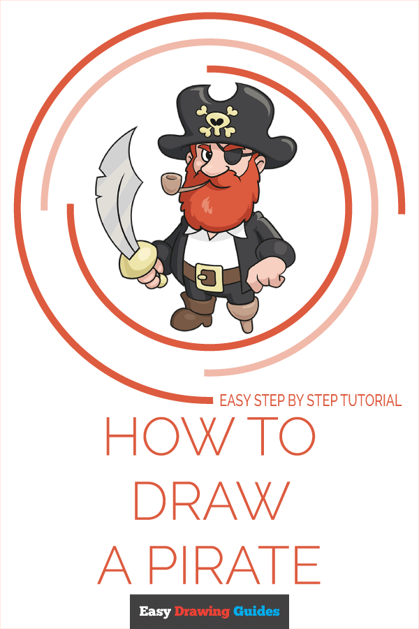 How to Draw a Pirate Pinterest Image