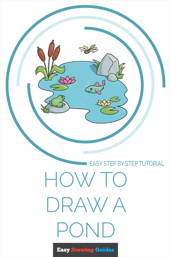 How to Draw a Pond Pinterest Image