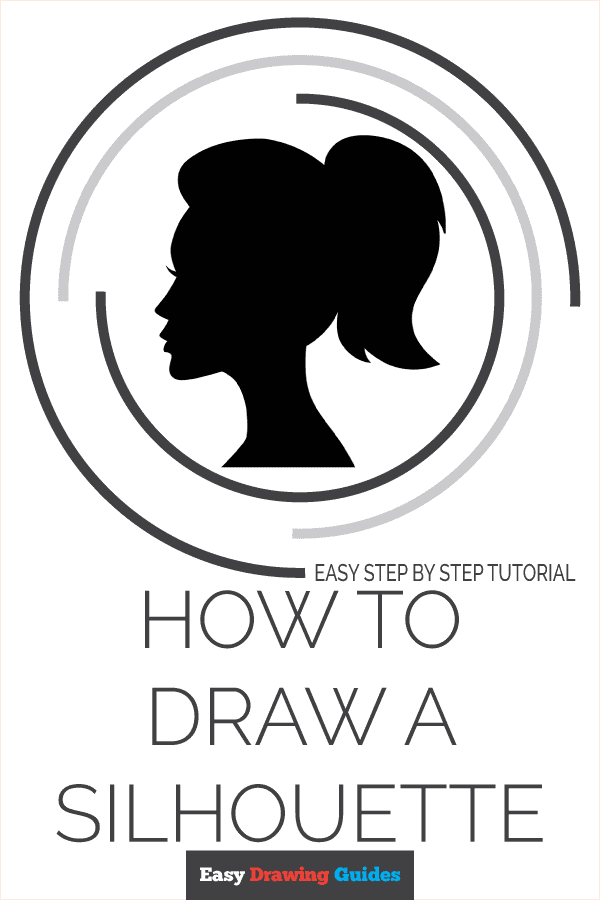 How to Draw a Silhouette Pinterest Image