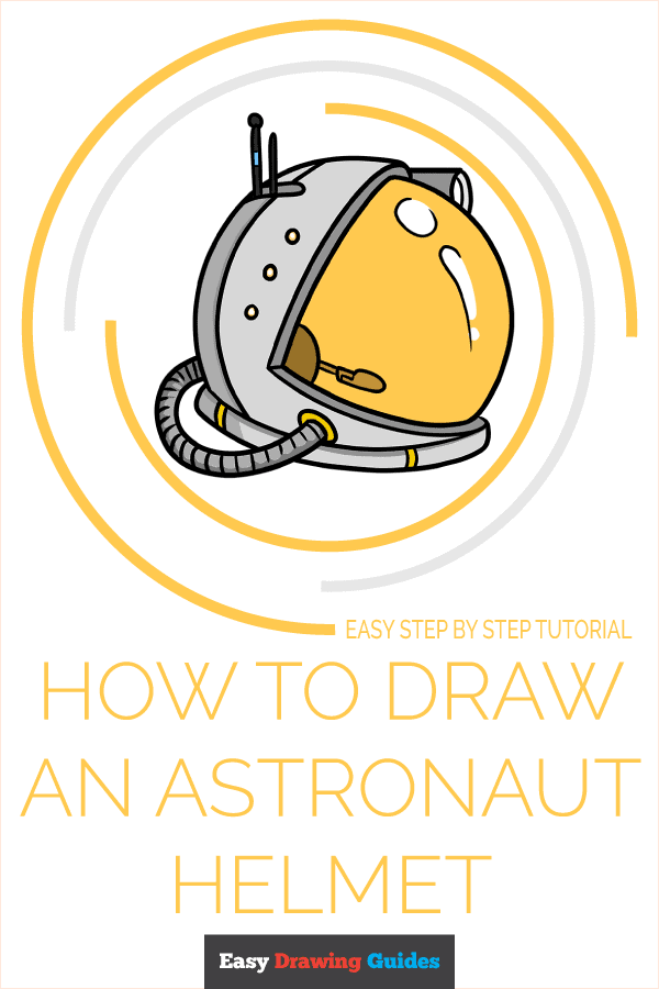 How to Draw Astronaut Helmet | Share to Pinterest