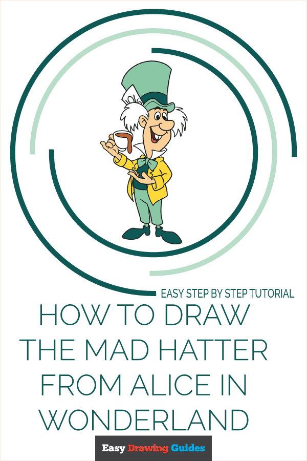 How to Draw the Mad Hatter from Alice in Wonderland Pinterest Image