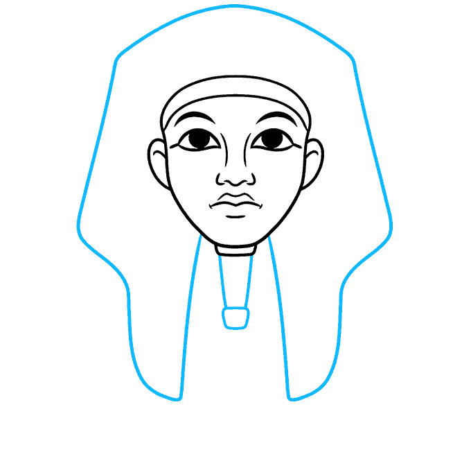 How to Draw King Tut Step 04