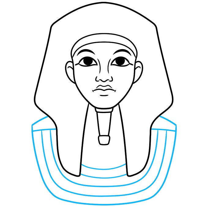 How to Draw King Tut Step 05