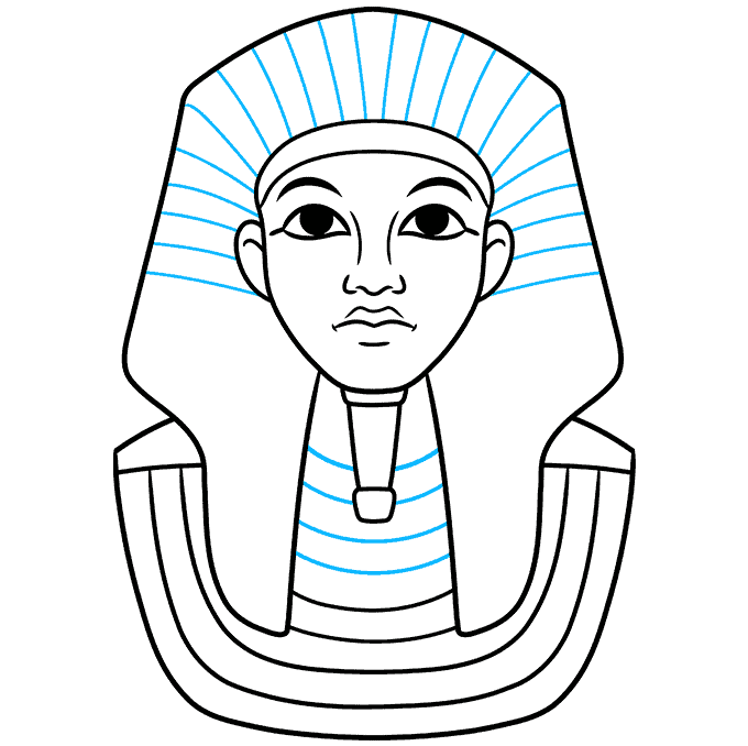 How to Draw King Tut Step 06
