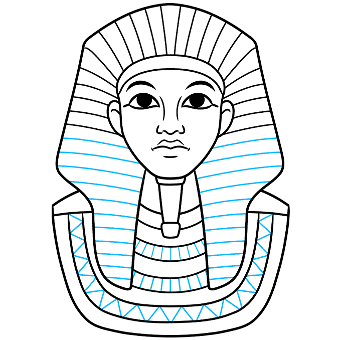 How to Draw King Tut Step 07