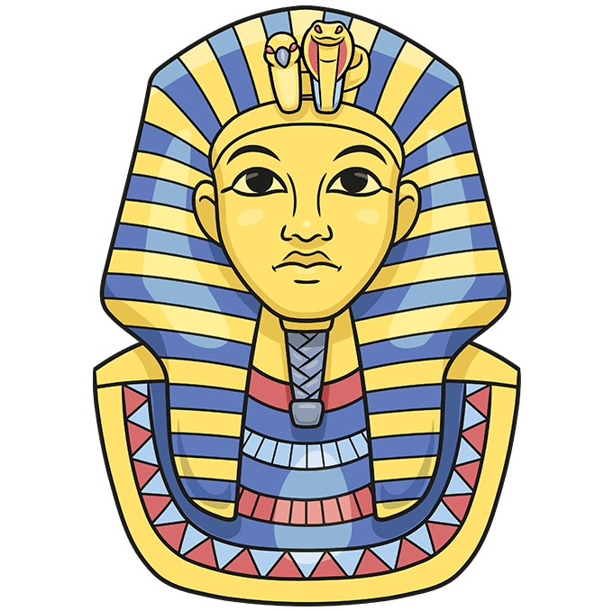 How to Draw King Tut Step 10