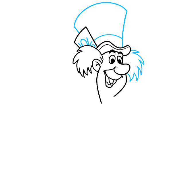 How to Draw the Mad Hatter from Alice in Wonderland Step 04