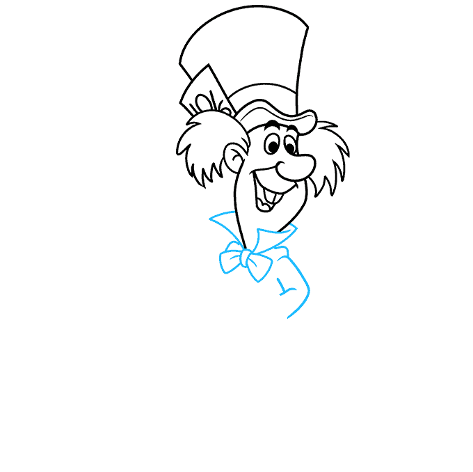 How to Draw the Mad Hatter from Alice in Wonderland Step 05