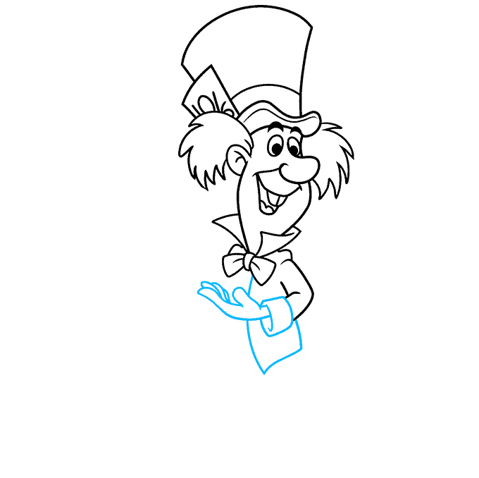 How to Draw the Mad Hatter from Alice in Wonderland Step 06