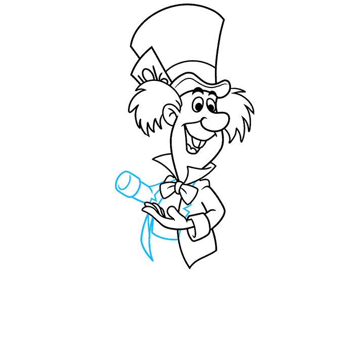 How to Draw the Mad Hatter from Alice in Wonderland Step 07
