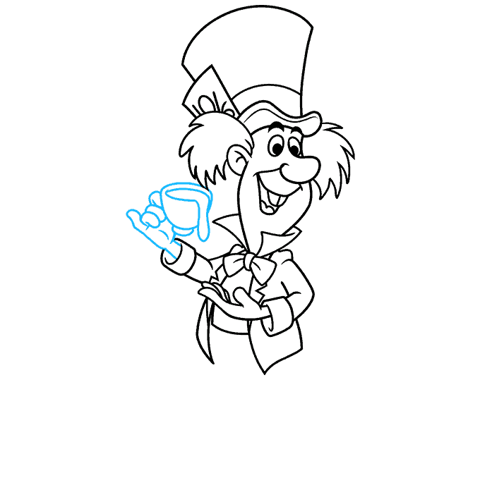 How to Draw the Mad Hatter from Alice in Wonderland Step 08