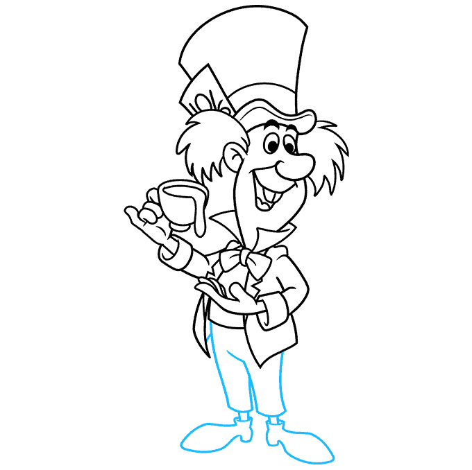 How to Draw the Mad Hatter from Alice in Wonderland Step 09