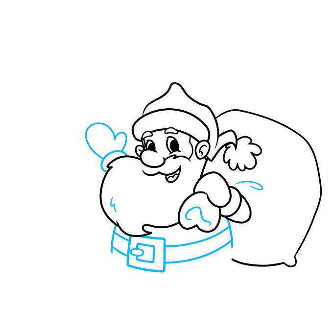 How to Draw a Merry Christmas Card Step 05