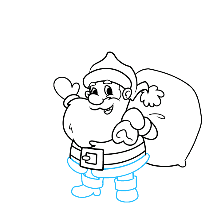 How to Draw a Merry Christmas Card Step 06