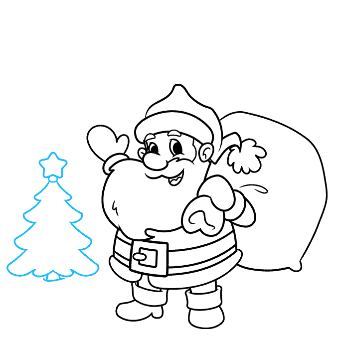 How to Draw a Merry Christmas Card Step 07