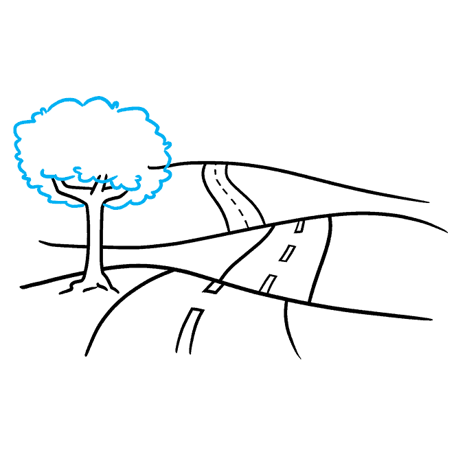 How to Draw Road: Step 8
