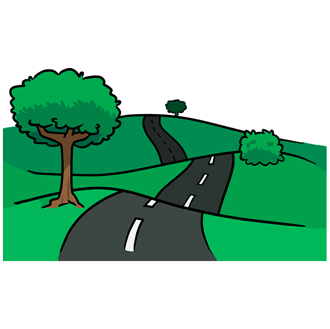 How to Draw Road: Step 10