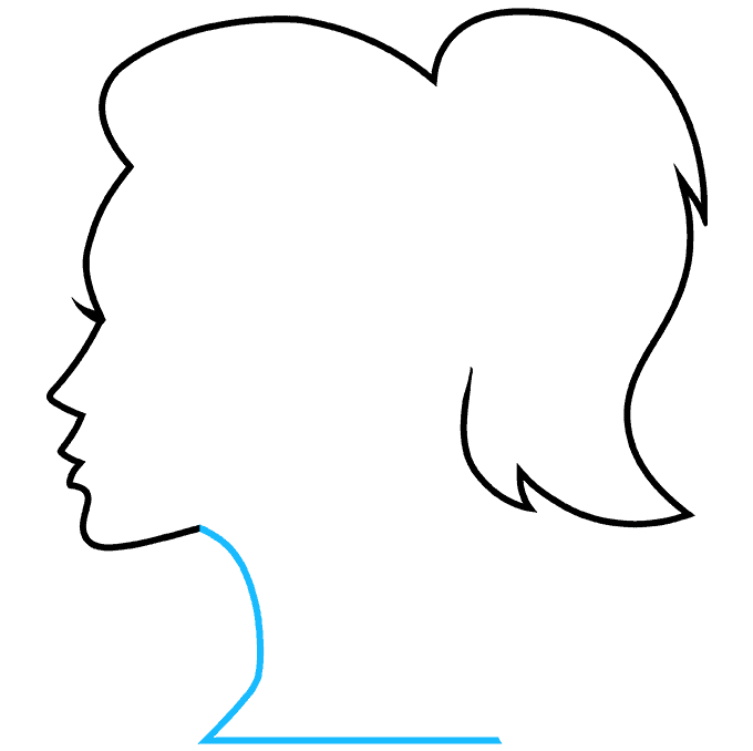 How to Draw a Silhouette Step 08