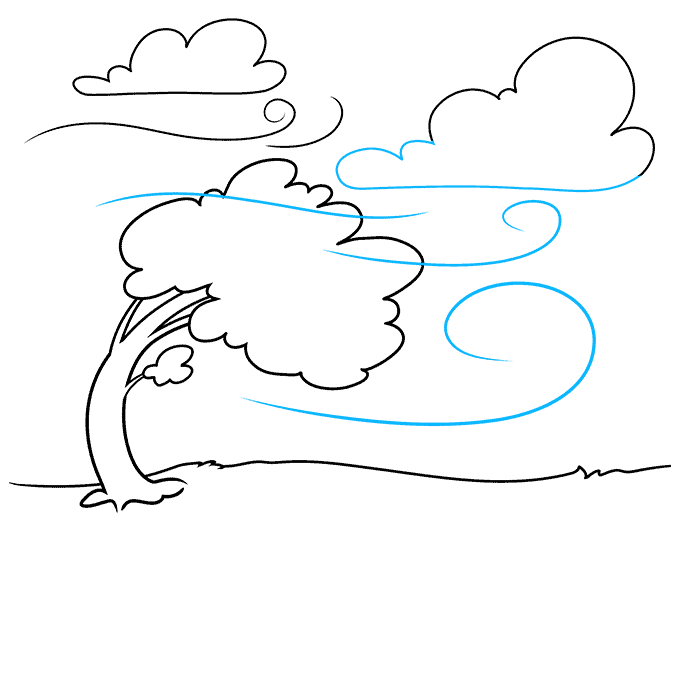 How to Draw the Wind Step 06