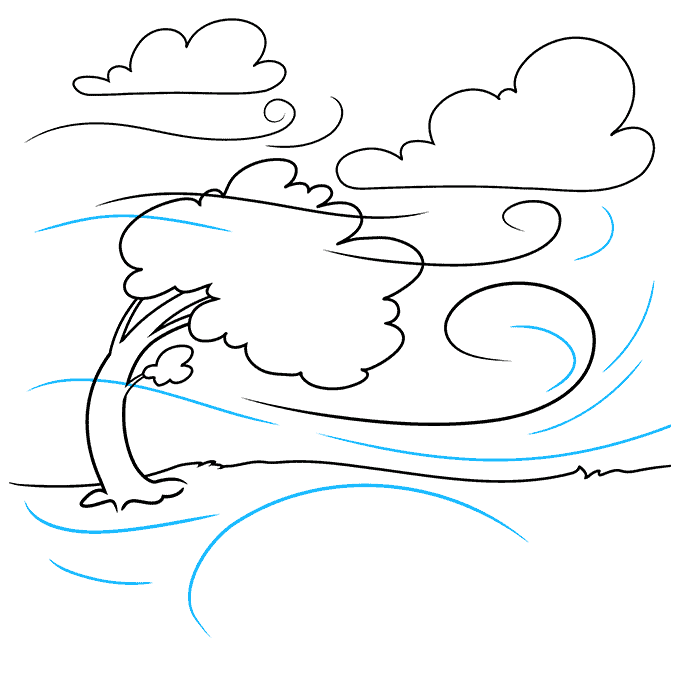 How to Draw the Wind Step 07