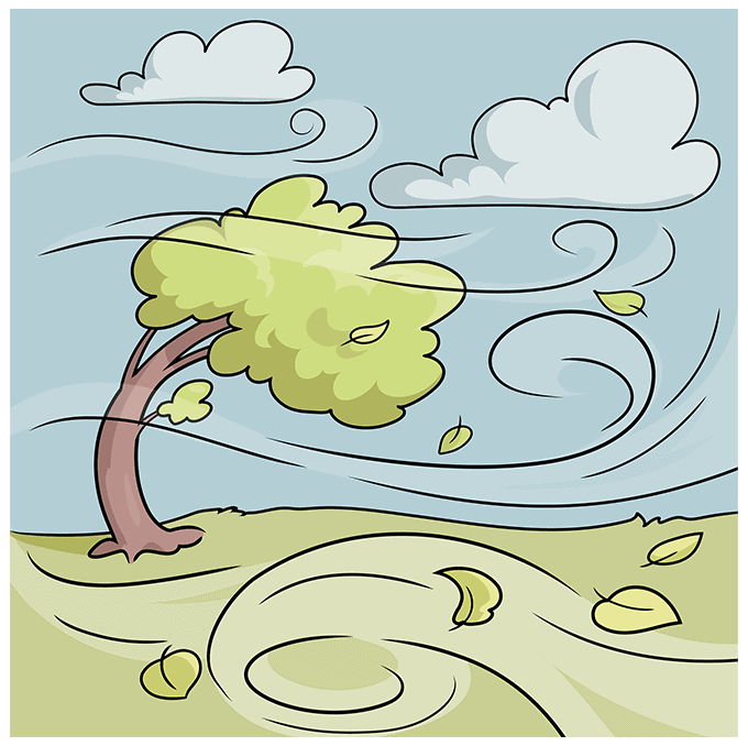 How to Draw the Wind Step 10