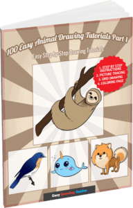 100 Easy Animal Drawing Tutorials Part 1 - 3D ebook cover