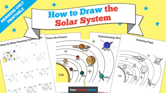 download a printable PDF of Solar System drawing tutorial