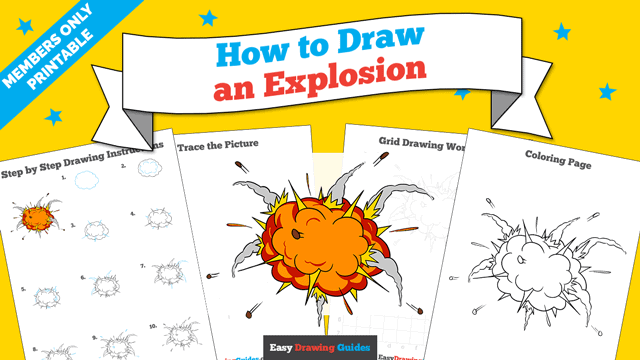 download a printable PDF of Explosion drawing tutorial
