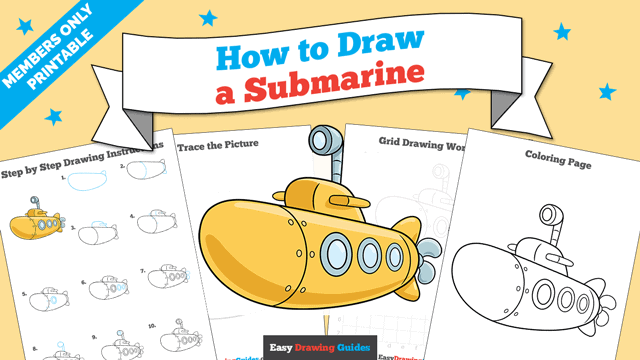download a printable PDF of Submarine drawing tutorial