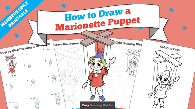 Printables thumbnail: How to Draw a Marionette Puppet