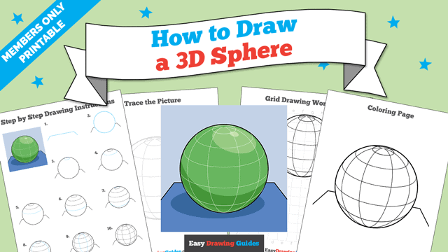 Printables thumbnail: How to Draw a 3D Sphere