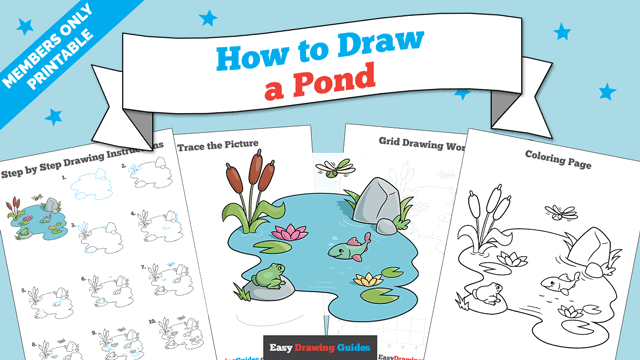 Printables thumbnail: How to Draw a Pond