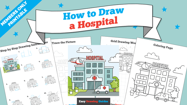 Printables thumbnail: How to Draw a Hospital