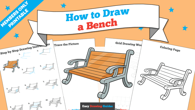 Printables thumbnail: How to Draw a Bench