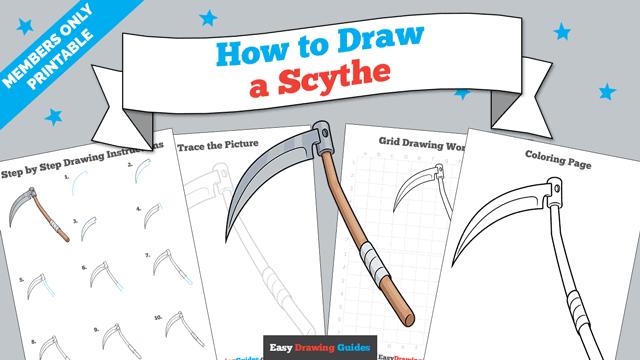 Printables thumbnail: How to Draw a Scythe
