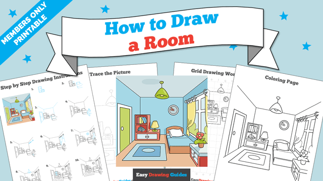 Printables thumbnail: How to Draw a Room