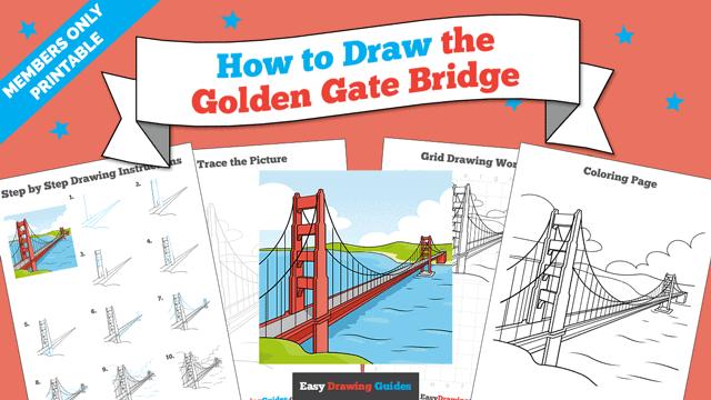 Printables thumbnail: How to Draw the Golden Gate Bridge
