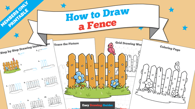 Printables thumbnail: How to Draw a Fence